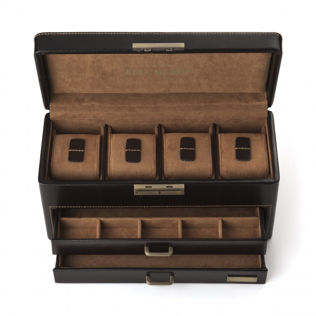 Mens leather watch and accessories box.