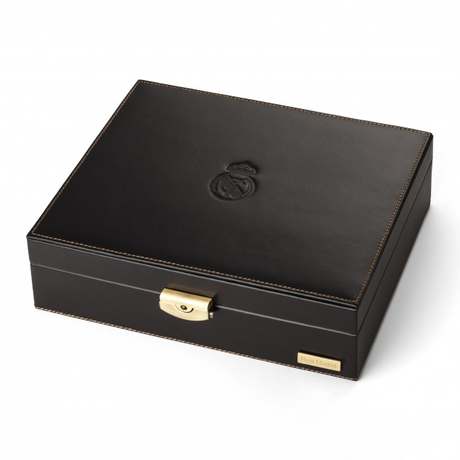 LEATHER BOX FOR 10 WATCHES BROWN