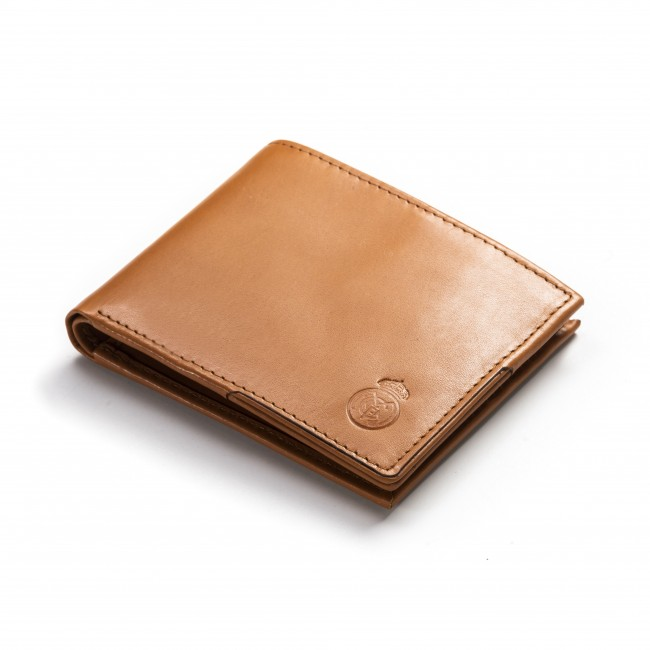 Mens Genuine Leather Wallet with matching Key pouch marron