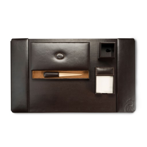 Leather Desk Set Brown Real Madrid