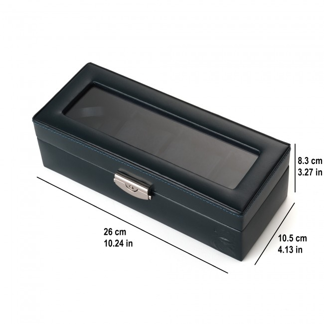 Leather Watch Box 4 Watches Blue Real Madrid