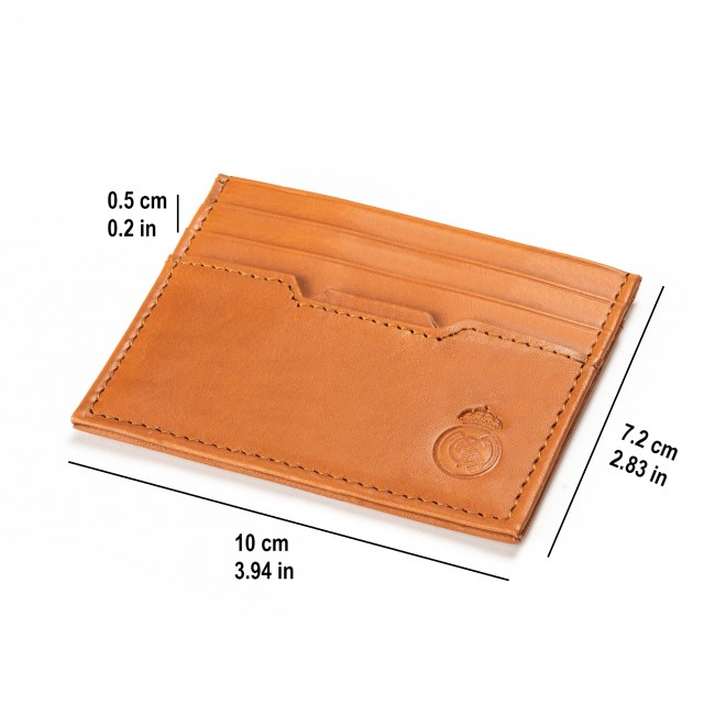 Mens Genuine Leather Wallet with matching Card case BROWN