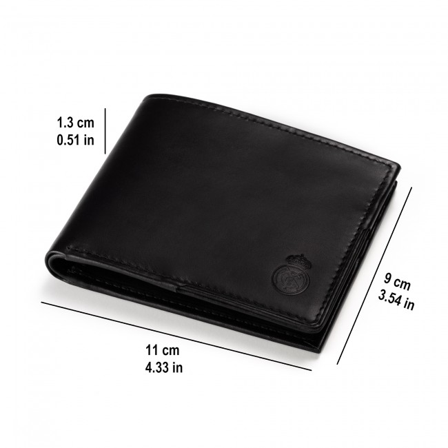 Mens Genuine Leather Wallet with matching Card case Black
