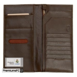 MENS GENUINE LEATHER TRAVEL WALLET WITH TWO MATCHING LUGGAGE TAGS BROWN